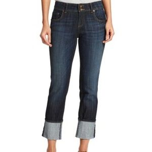 Kut from the Kloth Cameron Cuffed Straight Jeans